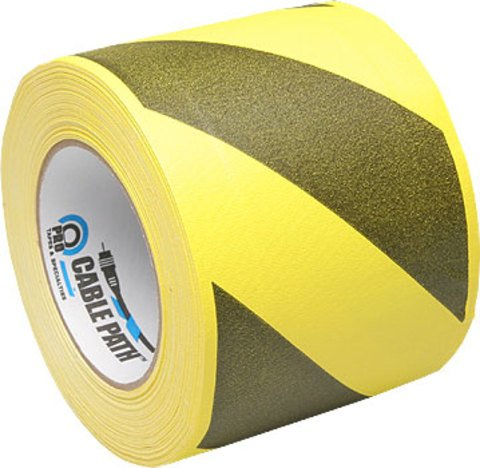 Pro-Tapes Cable Path Tape - Yellow/Black Stripe - 4 Inch