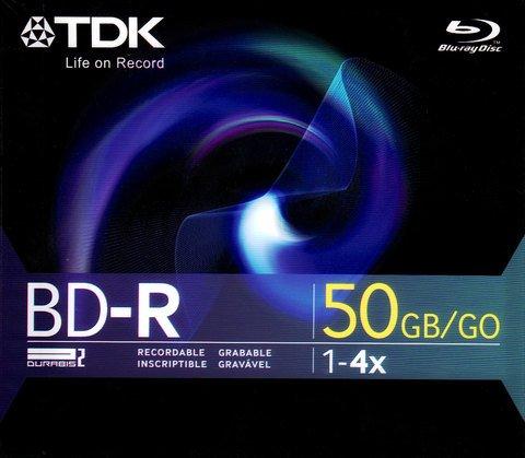TDK 4x BD-R DL Dual Layer Logo Branded - 1 Disc