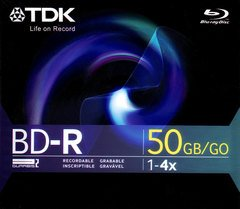 TDK 4x BD-R DL Dual Layer Logo Branded - 1 Disc