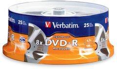 Verbatim 8x DVD-R Logo Branded - 25 Discs