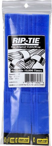 Rip-Tie CableWrap - Blue 9 Inches - 10 Ties