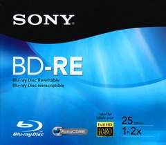 Sony 2x BD-RE Rewritable Logo Branded - 1 Disc