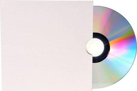 Bethel Plastics White Cardboard Disc Sleeve