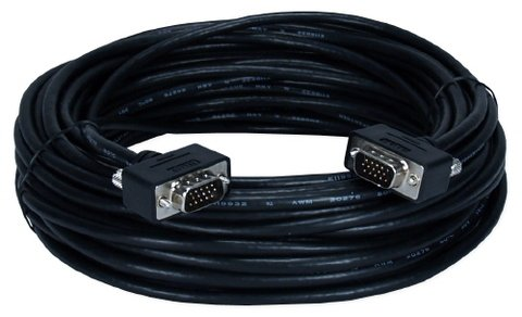QVS 50FT UltraThin Male-to-Male VGA Cable