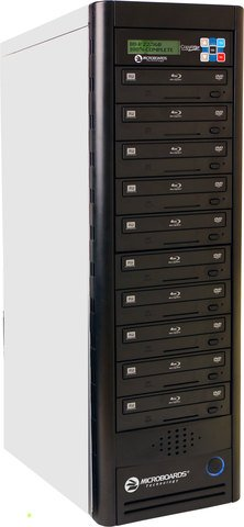 Microboards CopyWriter NET-10 Daisy-Chainable Blu-ray Tower - 10 Recorders