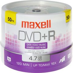 Maxell DVD+R Logo Branded 50 Discs