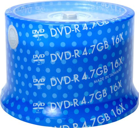 Spin-X 16x DVD-R White Thermal Printable - 50 Discs