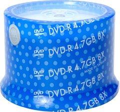 Spin-X 8x DVD-R Shiny Silver Thermal Printable - 50 Discs