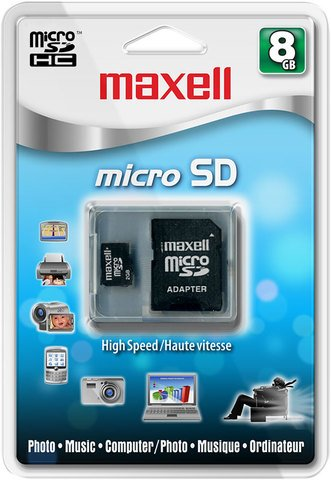 Maxell 8 GB MicroSD Class 6