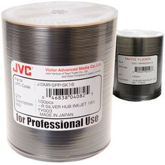 JVC 16x DVD-R Silver Inkjet Printable - 100 Discs