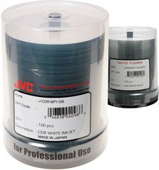 JVC 52x CD-R White Inkjet Printable - 100 Discs