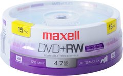 Maxell 4x DVD+RW Logo Branded - 15 Discs