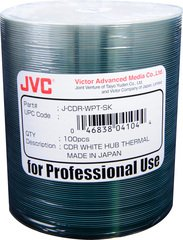 JVC 52x CD-R White Thermal Printable - 100 Discs