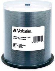 52x CD-R White Thermal Printable - 100 Discs