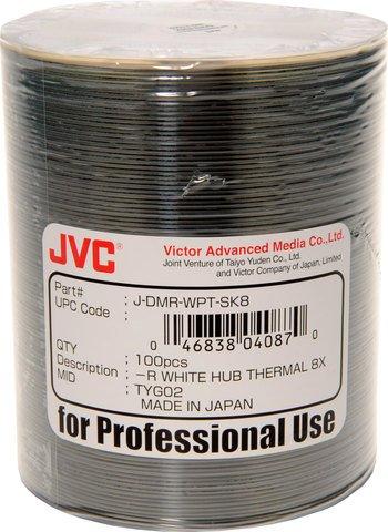 8x DVD-R White Thermal Printable - 100 Discs