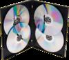 Blair Packaging Versa Keep 4 Quad DVD Case Black