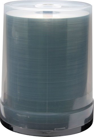 JVC 8x DVD-R Silver Inkjet Printable - 100 Discs