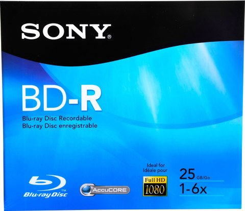 Sony 6x BD-R Logo Branded - 1 Disc