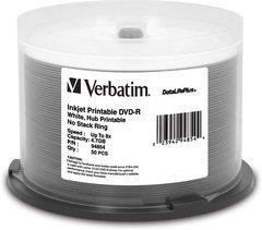 Verbatim 8x DVD-R White Inkjet Printable - 50 Discs