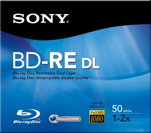 Sony 2x BD-RE DL Rewritable Dual Layer Logo Branded - 1 Disc