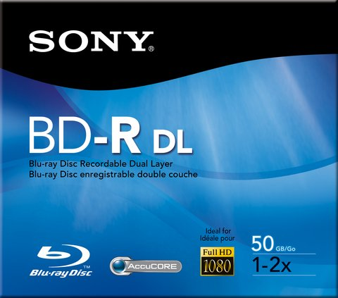 Sony 2x BD-R DL Dual Layer Logo Branded - 1 Disc