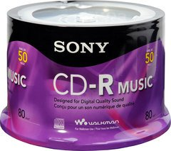 Sony 24x CD-R Logo Branded - 50 Discs
