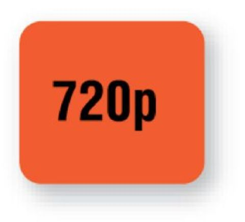 United Ad Label Fluorescent Red 720p Tape Label