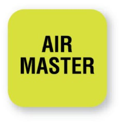 United Ad Label Fluorescent Green Air Master Tape Label