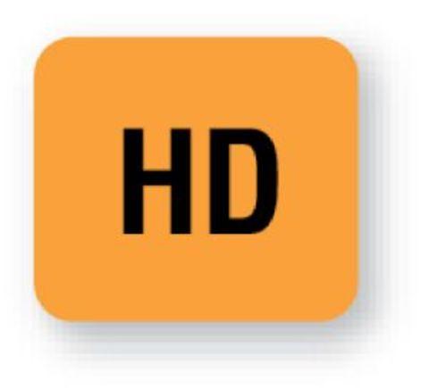 United Ad Label Fluorescent Orange HD Tape Label
