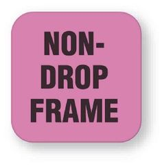 United Ad Label Fluorescent Pink Non-Drop Frame Tape Label