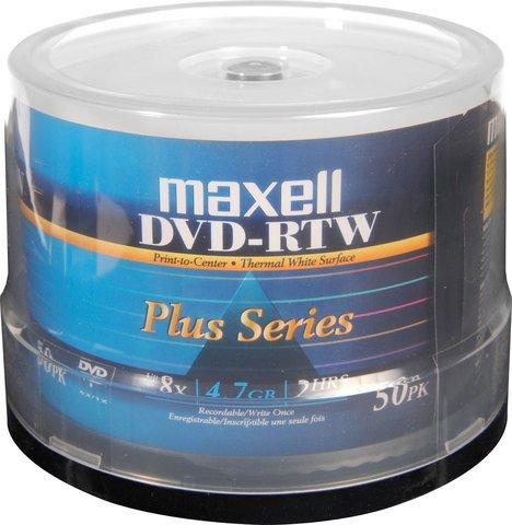Maxell 8x DVD-R White Thermal Printable - 50 Discs