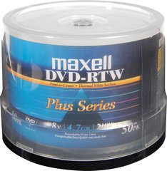 Maxell 8x DVD-R White Thermal Printable - 50 Discs