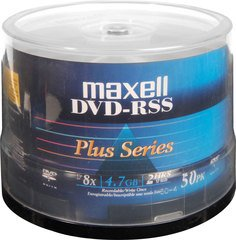 Maxell 8x DVD-R Shiny Silver Thermal Printable - 50 Discs