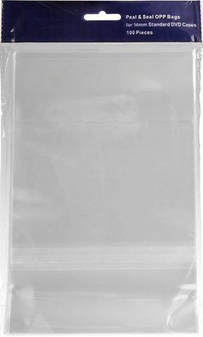 Bethel Plastics Peel and Seal DVD Case Sleeves 100-Pack