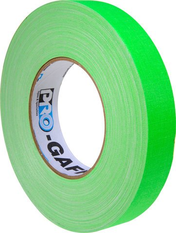 Pro-Tapes Pro-Gaffer 1 Inch Fluorescent Green