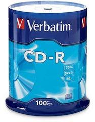 Verbatim 52x CD-R Logo Branded - 100 Discs