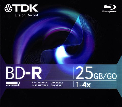 TDK 4x BD-R Logo Branded - 1 Disc