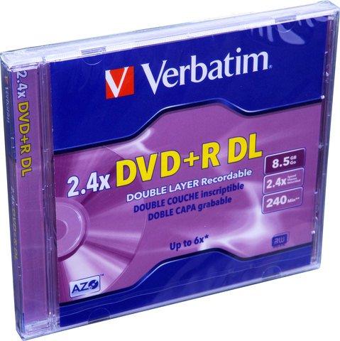 Verbatim 2.4x DVD+R DL Double Layer Logo Branded - 1 Disc