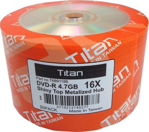 Titan 16x DVD-R Shiny Silver - 50 Discs