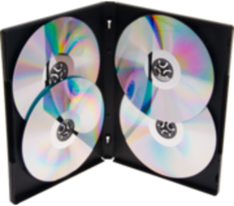 TapeOnline.com 14mm Black DVD Case- Quad