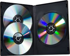 14mm Black DVD Case - Triple