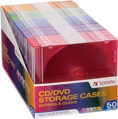Verbatim Multi-Colored Slimline Jewel Cases