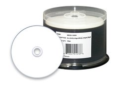 8x DVD+R DL Double Layer White Inkjet Printable - 50 Discs