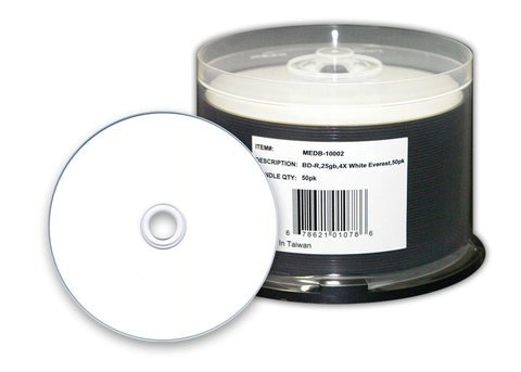 Microboards 4x BD-R White Thermal Hub Printable - 50 Discs