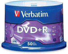 Verbatim DVD+R Logo Branded 50 Discs