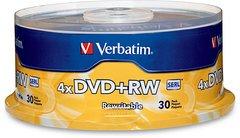 Verbatim 4x DVD+RW Logo Branded - 30 Discs