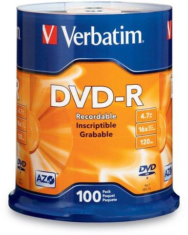 16x DVD-R Logo Branded - 100 Discs