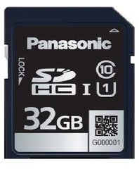 Panasonic 32GB SDB Series SDHC Card - UHS-1