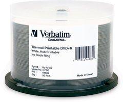 Verbatim DVD+R White Thermal Printable 50 Discs