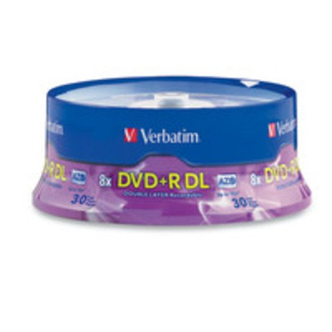 Verbatim 8x DVD+R DL Double Layer Logo Branded - 30 Discs